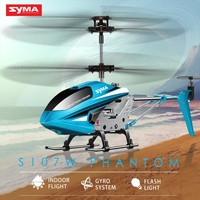 2017 Original SYMA S107W 3.5CH Indoor RC Helicopter Aluminium Alloy Shatterproof Remote Control Aircraft for Children Toys