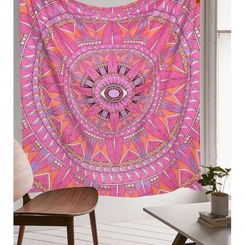 Magical Pink God's Eye Psychedelic Hippie Hippy Wall Hanging Throw Tapestry