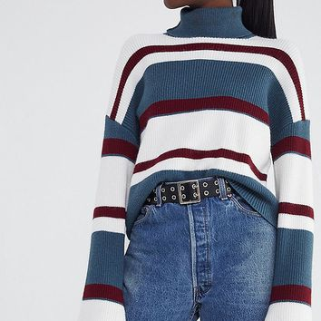 UO Bobby Striped Turtleneck Sweater | Urban Outfitters