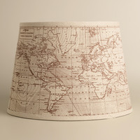 Vintage World Map Table Lamp Shade - World Market