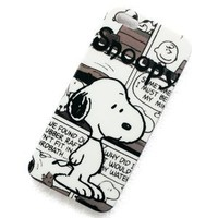 ATQ-Cartoon Snoopy Pattern Plastic Hard Rubber Protective Case Cover for Apple Iphone 5 5g