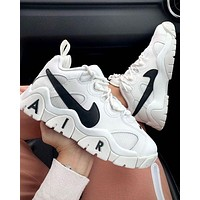 NIKE AIR BARRAGE LOW new colorblock platform sneakers Shoes White&Black