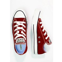 Converse Fashion Canvas Flats Sneakers Sport Shoes wine red