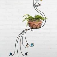 Peacock Hanging Planter