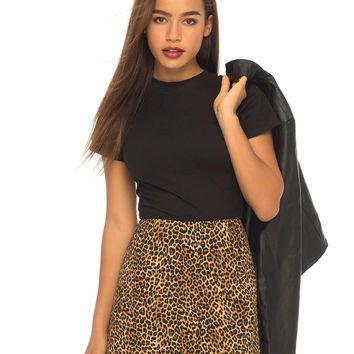 Annie A Line Skirt in Animal by Motel