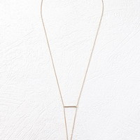 Linear Bar Drop Necklace