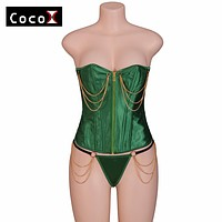 2808 Satin Bone Lace Up Steampunk Corset Sexy Bustier Women Corselet Corset and Bustier Corset Overbust Slim Corset Strapless