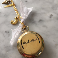 Wanderlust Locket, Wanderlust Necklace, Working Compass, Customized Compass, Personalized Compass, Engraved Compass, Graduation Gift