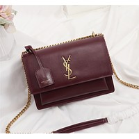 YSL Newest Popular Women Leather Handbag Tote Crossbody Shoulder Bag Satchel 826