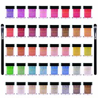 Loose Pearl Eye Shadow Glitter in Favorite Colors with Two Shadow Brushes - Set of 40 colors