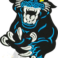 Panthers Machine Embroidery Design-Sport embroidery-Panther face- 10 SIZES-INSTANT DOWNLOAD