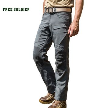 FREE SOLDIER Outdoor sports tactical pants camping hiking scratch resistant, water-resistant, wear-resistant overall pants