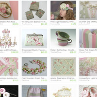 Sage Green & Pink ~ by Tanya on Etsy