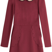 RED Valentino - Flared Dress with Statement Collar