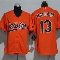 Women's Baltimore Orioles #13 Manny Machado Cool Base Jersey
