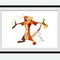 The Lion King poster Disney watercolor print Timon colorful poster Lion king decor Home decoration Kids room wall art Nursery decor W450