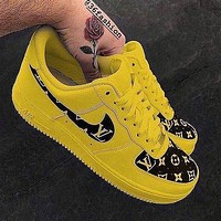 LV Louis Vuitton x Nike Air Force 1 Low-End Casual Sneakers Shoes
