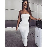 fhotwinter19 hot sexy hot sale women's tight-fitting tube top dress