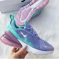 NIKE AIR MAX 270 hot sale couple color-blocking semi-cushion casual breathable running shoes