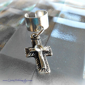Cross Ear Cuff, Religious, Jesus, Faith, Direct Check Out, Ready to Ship