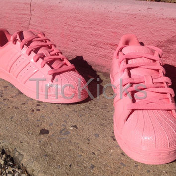 Adidas Superstar Shell Toe Customs, Petal Pink