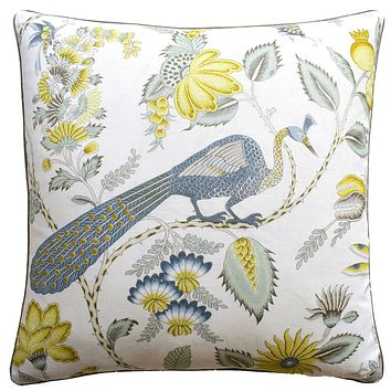 Campagne Cadet & Citron Pillow by Ryan Studio