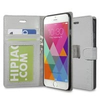 iPhone 6 case, iPhone 6S case, INVELLOP Gray iPhone 6 6S case cover slim Leather Wallet case iPhone 6 6S 4.7