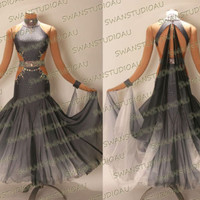 NEW READY TO WEAR HEMATITE BALLROOM COMPETITION DRESS SIZE:6 WB3833