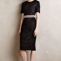 Milany Embroidered Pencil Dress