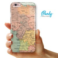 """The Zoomed In Africa Map iPhone 6/6s Plus (5.5"""" iPhone) Ultra-Gloss INK-Fuzed Hard Case"""