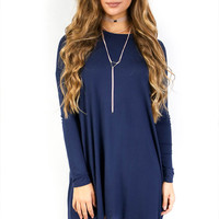 CYBER DEAL Brave and Beautiful Navy Dress