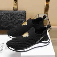 VERSACEMen Casual Shoes Boots fashionable casual leather