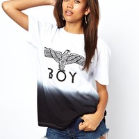 BOY London | BOY London Eagle T-Shirt In Dip Dye at ASOS
