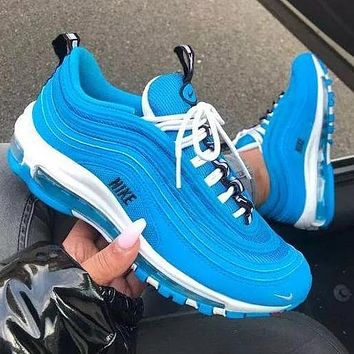 Nike Air Max 97 air cushion yellow Gym shoes (9 colors) Blue