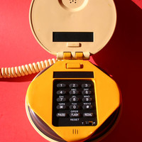 VINTAGE cheeseburger shaped push button flip phone