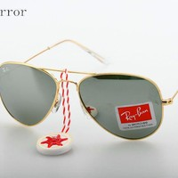 Brand new RAY-BAN aviator sunglasses 3025 Gold/Silver Mirror Lens 58mm 05