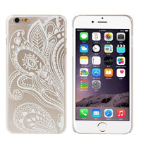 2017 Ultra thin Slim Back cover for iphone Flower Clear Hard Skin Case cover for iphone 6 4.7 Inch Mobile phone cases