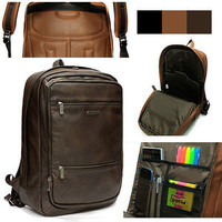 Mens Womens High Quality Synthetic Leather Backpack Travel School Bag Laptop 171