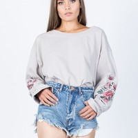 Branch Out Floral Sweater
