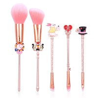 Sailor Moon Makeup Brushes Set High Quality 5pcs Pink Cosmetic Face Foundation Powder Eyeshadow Blush Eyebrow Make Up Brush