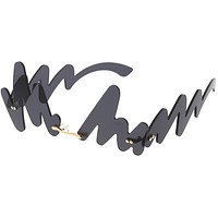 Mod Chunky 90s Inspired Full Rimless Signature Sunglasses D082