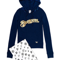Milwaukee Brewers Bling Pullover Hoodie - PINK - Victoria's Secret