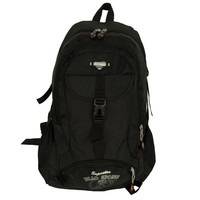 Classic Black Camping Backpack/ Outdoor Daypack/ School Backpack