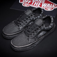 Trendsetter Vans Embroidery Canvas Old Skool Flat Sneakers Sport Shoes