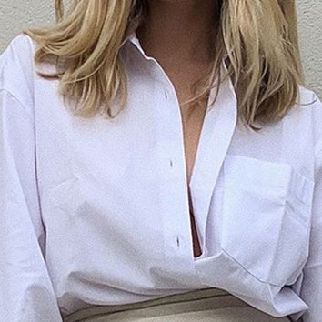 New style hot selling temperament loose collar fashion shirt