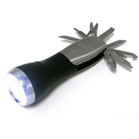 Super Bright Led Flashlight with 8 Bladed Knives Built In