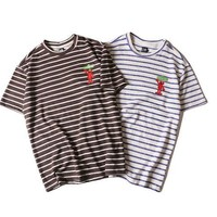 Stripes Short Sleeve Skateboard T-shirts [10713509123]