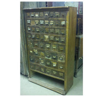 Tall Vintage Wooden Cabinet for  Office, Jewelry, Kitchen Spices