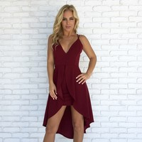 Time After Time Dress in Wine