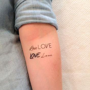 4 LOVE Temporary Tattoos - SmashTat